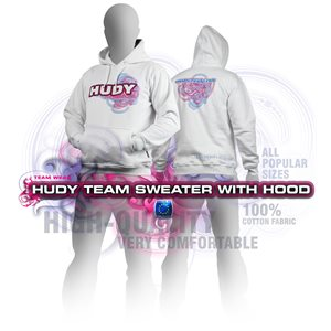 HUDY SWEATER HOODED - WHITE (L)