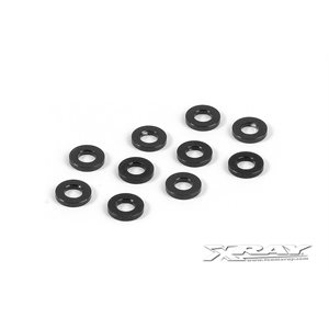 ALU SHIM 3x6x1.0MM - BLACK (10)