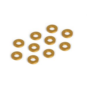 ALU SHIM 3x6x1.0MM - ORANGE (10)