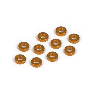 ALU SHIM 3x6x2.0MM - ORANGE (10)