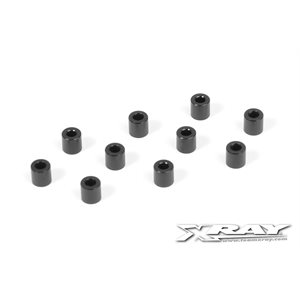 ALU SHIM 3x6x6.0MM - BLACK (10)