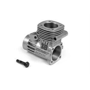 CRANKCASE WITH BEARINGS + CARBURETOR RETAINER
